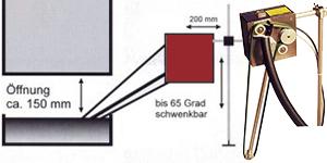Ölskimmer RSK350 mit 2Riemen zum trennen von aufschwimmenden Öl aus Emulsionen, Kühlschmierstoffen.